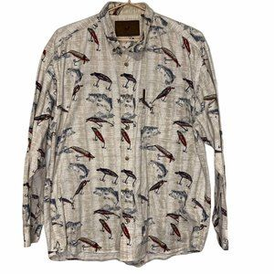 North River Outfitters Fish & Lure Button Shirt